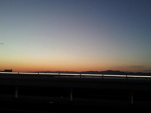 夕方の吉野川