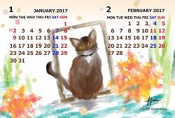 カレンダー1.2月