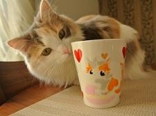 マグカップ猫手描きオーダーメイド名入れ3