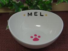 オーダー猫用食器肉球【めるちゃん】