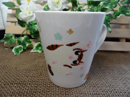 猫オーダー手描きマグカップ2