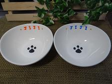オーダー猫用食器肉球【じじちゃん】