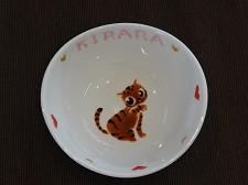 オーダー猫用食器全身3