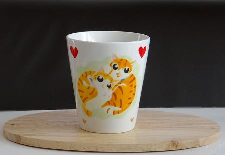 猫手描きオーダーマグカップ