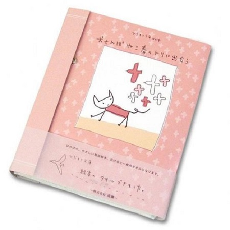 猫の絵本タオル~おさんぽネコ春のトリに出会う~