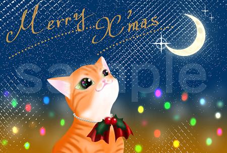猫オリジナルポストカード イラスト 茶トラ
